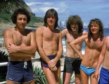AC/DC in their smalls